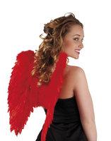 Vleugels veren rood 50 x 50 cm