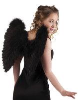 Vleugels veren zwart 50 x 50 cm