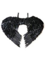 Engelen vleugels veren zwart volwassenen