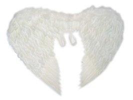 Engelen vleugels veren wit volwassenen