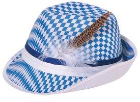 Bayernhoed blauw-wit met veer
