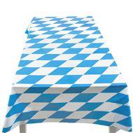 Tafelkleed plastic blauw-wit met print, 130 x 180 cm