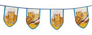 Vlaggenlijn ovale vlaggen groot met bierpul, 8 meter