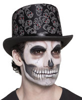 Hoge hoed zwart Skull Blink