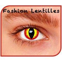 Comedia zachte kleurlenzen 1 dag houdbaar devil rood geel
