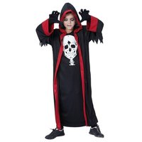 Dracula toga zwart-rood met hoofdkap