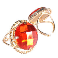 Sint ring rond goud-rood