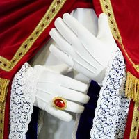 Kort model luxe dikke kwaliteit handschoen wit, 100% katoen