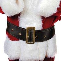 Riem kerstman luxe 9 cm breed zwart