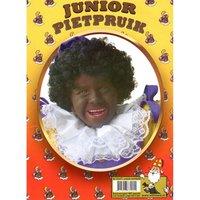 Zwarte Piet kinderpruik zwart