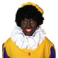 Zwarte Piet pruik populair zwart met elastiek