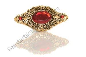 Piet baretspeld met steen rood goud