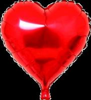 Folie hartballon rood 46 x 49 cm