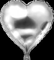 Folie hartballon zilver 46 x 49 cm