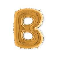 Folieballon letter 'B' goud 100 cm