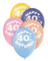 Ballonnen leeftijd 40 voor heliumvulling 5 stuks