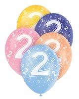 Ballonnen leeftijd 2 voor heliumvulling 5 stuks