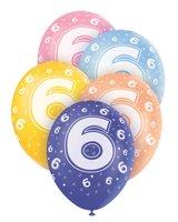 Ballonnen leeftijd 6 voor heliumvulling 5 stuks