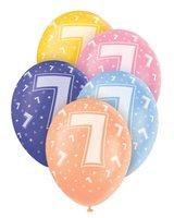 Ballonnen leeftijd 7 voor heliumvulling 5 stuks