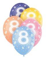 Ballonnen leeftijd 8 voor heliumvulling 5 stuks