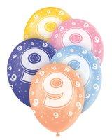 Ballonnen leeftijd 9 voor heliumvulling 5 stuks