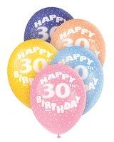 Ballonnen leeftijd 30 voor heliumvulling 5 stuks