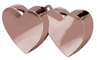 Ballongewichtjes 2 hartjes zilver