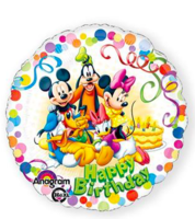 Folieballon Happy Birthday Mickey