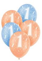 Ballonnen leeftijd 1 voor helium vulling 5 stuks