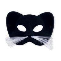 Kattenmasker zwart met snorharen