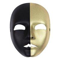 Gezichtsmasker goud - zwart