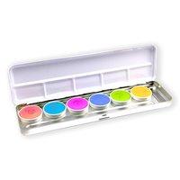Superstar waterschmink palet shimmer 6 kleuren