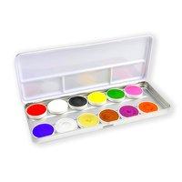 Superstar waterschmink palet bright 12 kleuren