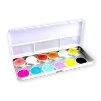 Superstar waterschmink palet pastel/shim 12 kleuren