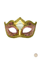 Venetiaans masker Punta Mozart roze-goud