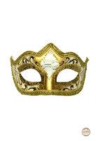 Venetiaans masker Punta Mozart wit-goud