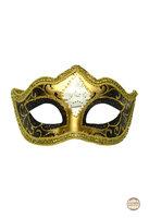 Venetiaans masker Punta Mozart zwart-goud