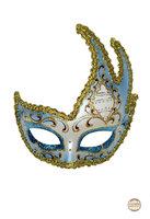 Venetiaans masker Colombina Onda Mozart wit/ brons-goud