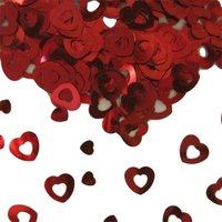 Tafeldecoratie/sier-confetti hartjes rood 14 gram