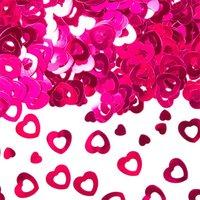 Tafeldecoratie/sier-confetti hartjes, roze 14 gram