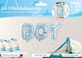 Folie ballon 'Boy' ca. 35 cm.