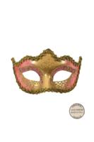 Venetiaans masker Punta Star roze goud