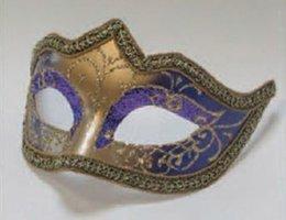 Venetiaans masker Punta Star paars goud