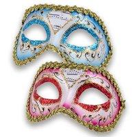 Venetiaans masker Colombina Mozart assorti kleuren