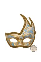 Venetiaans masker Onda Acquario blauw ivoor goud  OP=OP