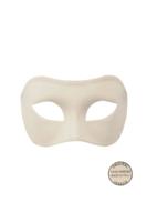 Venetiaans masker Colombina Grezza wit