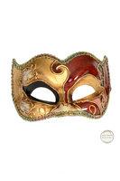 Venetiaans masker Colombina Joker Musica goud rood