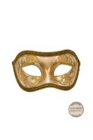 Venetiaans masker Acquirio metallic goud geel OP=OP