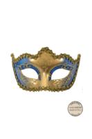 Venetiaans masker Punta Star donker blauw goud