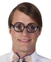 Nerd bril rond met glas